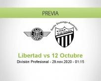 Pronóstico Libertad 12 Octubre (28 noviembre 2020)