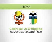 Pronóstico Cobresal O'Higgins (26 octubre 2021)