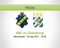 Pronóstico AIK Göteborg (20 septiembre 2021)