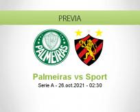 Pronóstico Palmeiras Sport (25 octubre 2021)