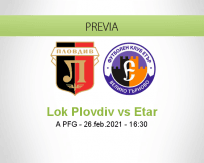 Pronóstico Lok Plovdiv Etar (26 febrero 2021)