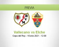 Pronóstico Vallecano Elche (16 enero 2021)