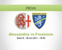 Pronóstico Alessandria Frosinone (28 octubre 2021)