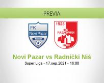 Pronóstico Novi Pazar Radnički Niš (17 septiembre 2021)