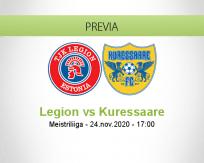 Pronóstico Legion Kuressaare (24 noviembre 2020)