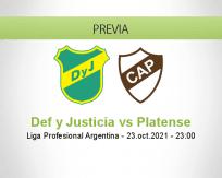 Pronóstico Def y Justicia Platense (23 octubre 2021)