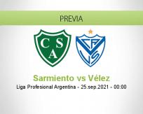Pronóstico Sarmiento Vélez (24 septiembre 2021)