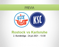 Pronóstico Rostock Karlsruhe (24 julio 2021)