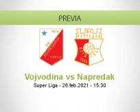 Pronóstico Vojvodina Napredak (26 febrero 2021)