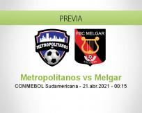 Pronóstico Metropolitanos Melgar (20 abril 2021)