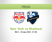 Pronóstico New York RB Montreal Impact (27 septiembre 2020)