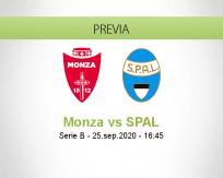 Pronóstico Monza SPAL (25 septiembre 2020)
