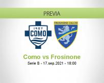 Pronóstico Como Frosinone (17 septiembre 2021)