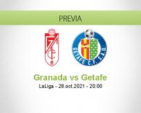 Pronóstico Granada Getafe (28 octubre 2021)