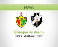 Pronóstico Brusque Vasco (24 septiembre 2021)