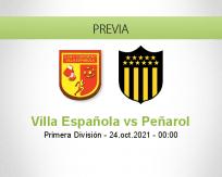 Pronóstico Villa Española Peñarol (23 octubre 2021)