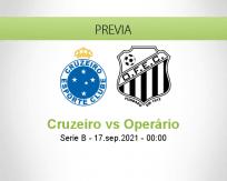 Pronóstico Cruzeiro Operário (16 septiembre 2021)