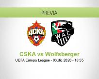 CSKA vs Wolfsberger
