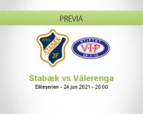 Pronóstico Stabæk Vålerenga (24 junio 2021)