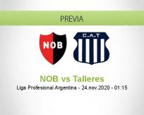Pronóstico NOB Talleres (23 noviembre 2020)