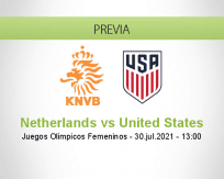 Pronóstico Netherlands United States (30 julio 2021)