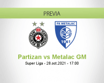 Pronóstico Partizan Metalac GM (28 octubre 2021)