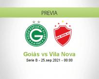 Pronóstico Goiás Vila Nova (24 septiembre 2021)