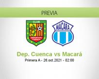 Pronóstico Dep. Cuenca Macará (25 octubre 2021)
