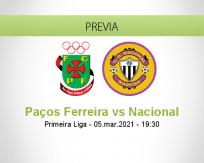 Pronóstico Paços Ferreira Nacional (05 marzo 2021)