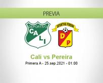 Pronóstico Cali Pereira (24 septiembre 2021)