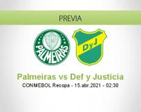 Pronóstico Palmeiras Def y Justicia (14 abril 2021)