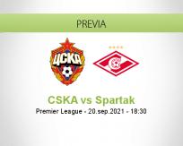 Pronóstico CSKA Spartak (20 septiembre 2021)