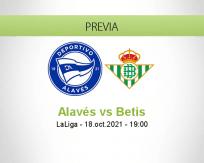 Pronóstico Alavés Betis (18 octubre 2021)