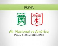 Atl. Nacional vs América