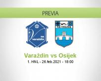 Pronóstico Varaždin Osijek (26 febrero 2021)