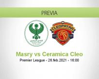 Pronóstico Masry Ceramica Cleo (26 febrero 2021)