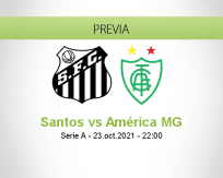 Santos vs América MG