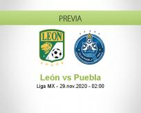 Pronóstico León Puebla (28 noviembre 2020)