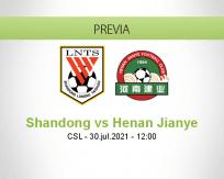 Pronóstico Shandong Henan Jianye (30 julio 2021)