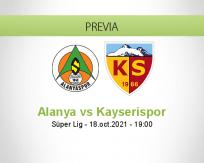 Pronóstico Alanya Kayserispor (18 octubre 2021)