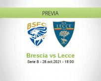 Pronóstico Brescia Lecce (28 octubre 2021)
