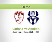 Pronóstico Larissa Apollon (16 enero 2021)