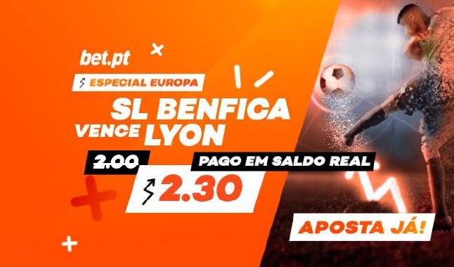Bet.pt aposta na vitória do Benfica