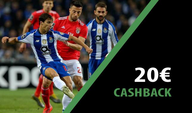 Ganha 20€ no jogo do Porto e do Benfica da Primeira Liga