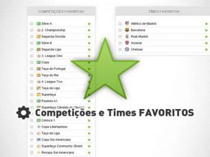 Equipes e competições favoritas