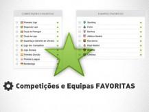 Equipas favoritas e competições favoritas