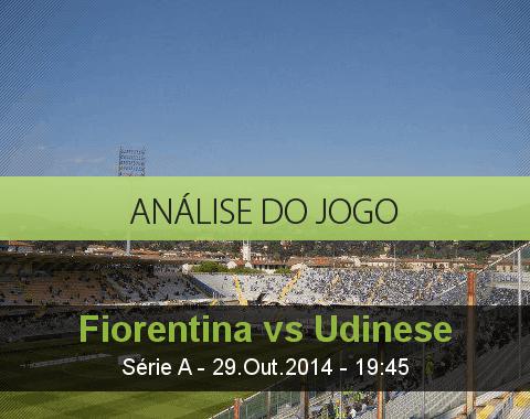 Análise do jogo: Fiorentina vs Udinese (29 Outubro 2014)