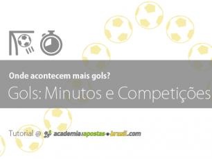 Estudar os momentos dos Gols: minutos e competições