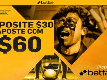 Depósito de $30 e aposta com $60 para novos clientes Betfair