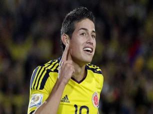James Rodríguez para marcar no Brasil vs Colômbia